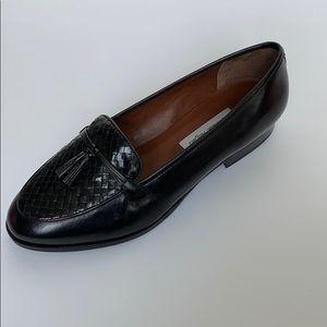 ETIENNE AIGNER Black Loafers w/ Tassels